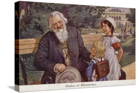 Johannes Brahms as a Friend of Children--Stretched Canvas Print