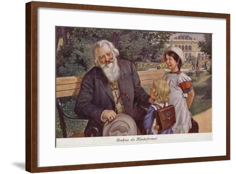 Johannes Brahms as a Friend of Children--Framed Art Print