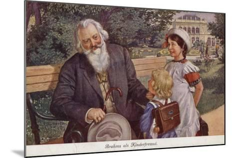 Johannes Brahms as a Friend of Children--Mounted Giclee Print