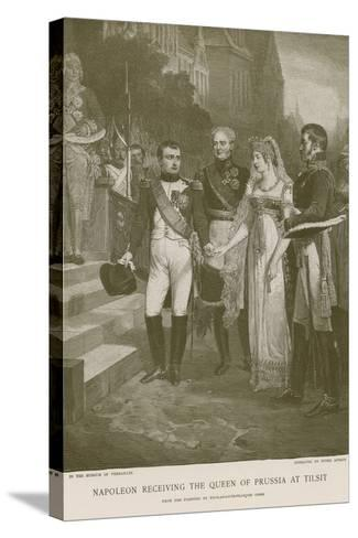 Napoleon Receiving the Queen of Prussia at Tilsit--Stretched Canvas Print