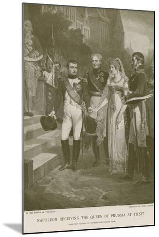 Napoleon Receiving the Queen of Prussia at Tilsit--Mounted Giclee Print