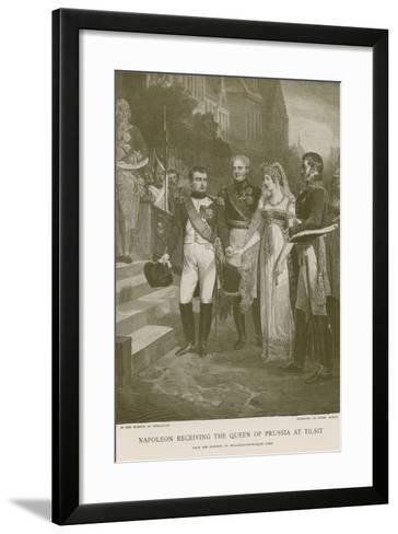 Napoleon Receiving the Queen of Prussia at Tilsit--Framed Art Print
