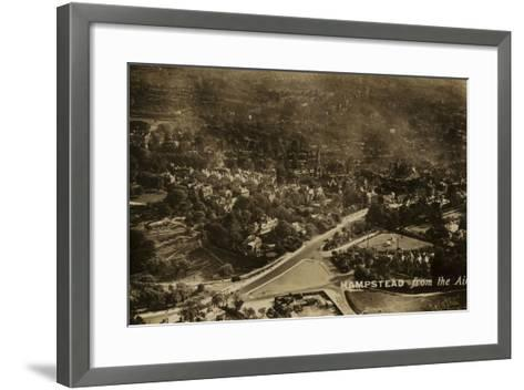 Hampstead from the Air--Framed Art Print