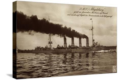 Deutsches Kriegsschiff S.M.S. Magdeburg in Fahrt--Stretched Canvas Print