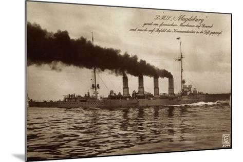 Deutsches Kriegsschiff S.M.S. Magdeburg in Fahrt--Mounted Giclee Print