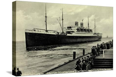 Cuxhaven, Schnelldampfer Albert Ballin, Hapag--Stretched Canvas Print