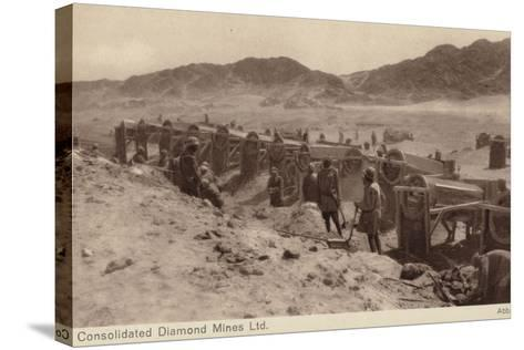 Postcard Depicting a Diamond Mine--Stretched Canvas Print