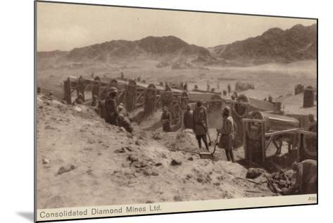 Postcard Depicting a Diamond Mine--Mounted Photographic Print