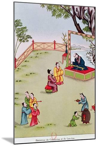 Meeting Between Confucius--Mounted Giclee Print