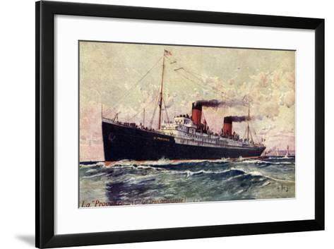 Künstler French Line Cgt, Dampfer La Provence--Framed Art Print