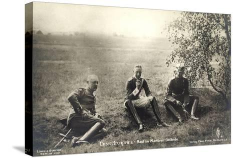 Kronprinz Friedrich Wilhelm, Rast Im Manövergelände--Stretched Canvas Print