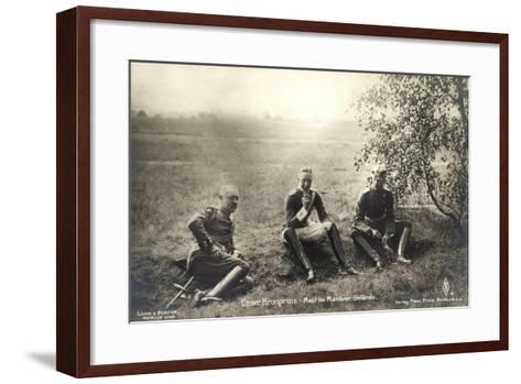 Kronprinz Friedrich Wilhelm, Rast Im Manövergelände--Framed Art Print