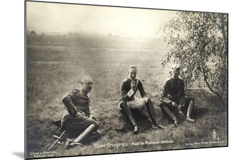 Kronprinz Friedrich Wilhelm, Rast Im Manövergelände--Mounted Giclee Print