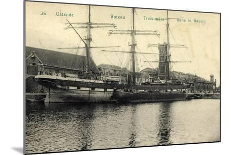 Ostende Westflandern, Segelschiff, 3 Master, Bassin--Mounted Giclee Print