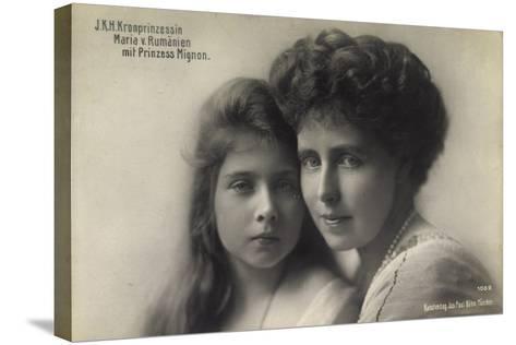 Kronprinzessin Maria V, Rumänien Mit Prinz, Mignon--Stretched Canvas Print