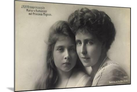 Kronprinzessin Maria V, Rumänien Mit Prinz, Mignon--Mounted Giclee Print