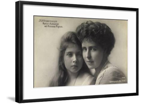 Kronprinzessin Maria V, Rumänien Mit Prinz, Mignon--Framed Art Print