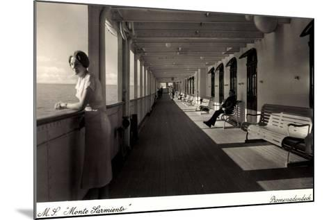 Kdf Dampfer Monte Sarmiento, Frau Auf Promenadendeck--Mounted Giclee Print