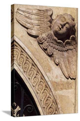 Detail of the Ornamentation from the Facade of the Church of St Mary, Krakow--Stretched Canvas Print