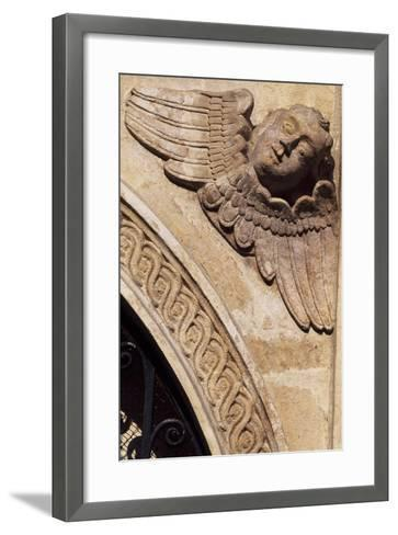 Detail of the Ornamentation from the Facade of the Church of St Mary, Krakow--Framed Art Print