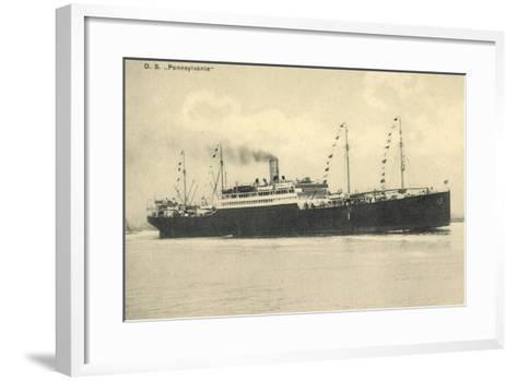 Hapag, Dampfschiff D.S. Pennsylvania in Fahrt--Framed Art Print