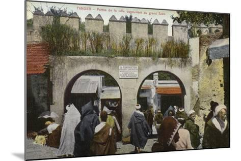 City Gates Leading to the Grand Socco Square, Tangier--Mounted Photographic Print