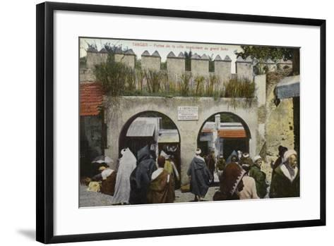 City Gates Leading to the Grand Socco Square, Tangier--Framed Art Print