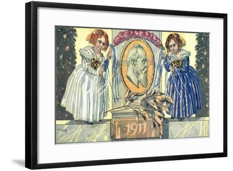 Ganzsachen K?nstler Dietz, Kinder, Luitpold II, 5 Pf--Framed Art Print