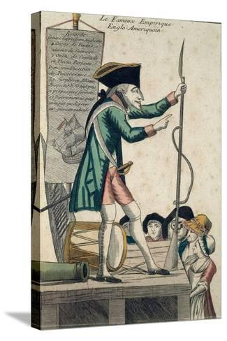 Caricature of the Well-Known Anglo-American Experimenter--Stretched Canvas Print