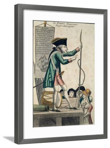 Caricature of the Well-Known Anglo-American Experimenter--Framed Art Print