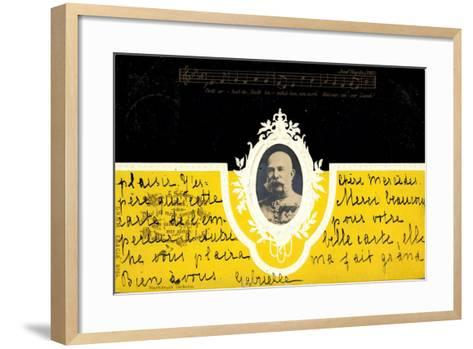 Präge Kaiser Wilhelm I Ludwig V Preußen, Haydn Lied--Framed Art Print