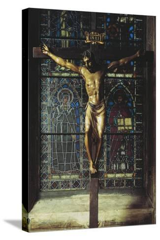Italy, Florence, Church of Santa Croce, Crucifix, 1406-1408--Stretched Canvas Print