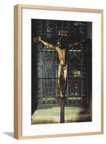 Italy, Florence, Church of Santa Croce, Crucifix, 1406-1408--Framed Art Print