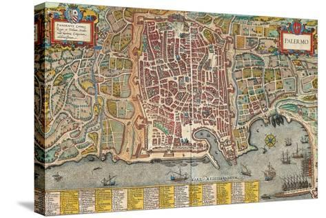 Map of Palermo from Civitates Orbis Terrarum--Stretched Canvas Print