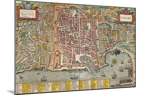Map of Palermo from Civitates Orbis Terrarum--Mounted Giclee Print