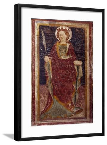 Depiction of Santa Martire in Chapel of St. Gregory in Sacro Speco Monastery, Subiaco, Italy--Framed Art Print