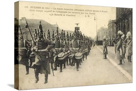 Kaiser Wilhelm II, Königliche Garde,Parade,Charleroi--Stretched Canvas Print