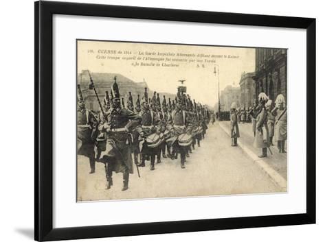 Kaiser Wilhelm II, Königliche Garde,Parade,Charleroi--Framed Art Print