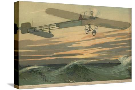 Louis Bleriot Making the First Flight across the English Channel in a Heavier Than Air Aircraft--Stretched Canvas Print