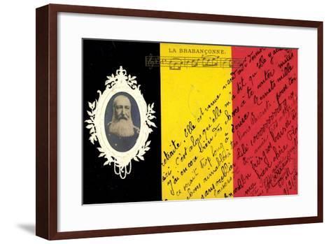 Pr?ge K?nig Leopold II Von Belgien, La Brabanconne--Framed Art Print