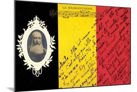 Pr?ge K?nig Leopold II Von Belgien, La Brabanconne--Mounted Giclee Print