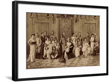 Das Deutsche Kaiserhaus, Gruppenfoto, Hohenzollern--Framed Art Print