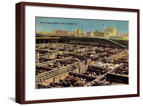 Chicago Illinois Usa, Part of Union Stock Yards, Houses, Rinder--Framed Art Print