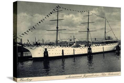 Hamburg, Segelschiff Hein Godenwind, Jugendschiff--Stretched Canvas Print