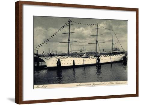 Hamburg, Segelschiff Hein Godenwind, Jugendschiff--Framed Art Print