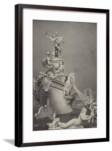Rear View of the Barge of State--Framed Art Print