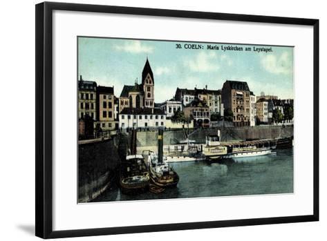 Köln, Maria Lyskirchen Am Leystapel,Dampfer Bismarck--Framed Art Print