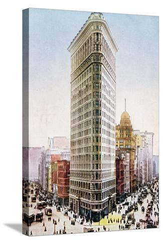 Postcard Depicting the Flatiron Building, New York City--Stretched Canvas Print