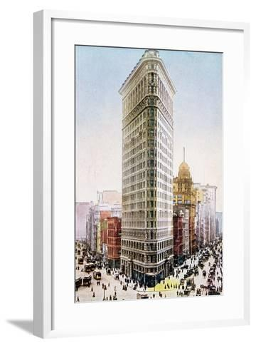 Postcard Depicting the Flatiron Building, New York City--Framed Art Print