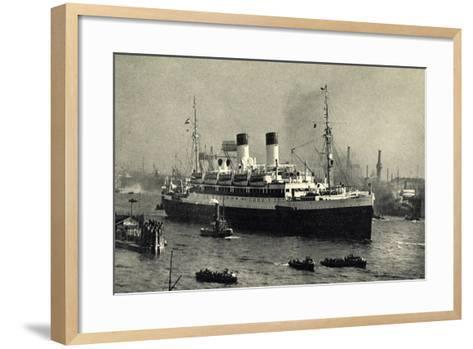 HSDG,Zweischrauben Motorschiff Im Begleitung,Dampfer--Framed Art Print